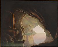 A Grotto in the Gulf of Salerno, Sunset, c.1781, wright