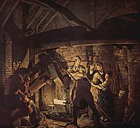 The Iron Forge, 1772, wright