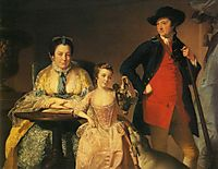 James and Mary Shuttleworth with One of Their Daughters, 1764, wright