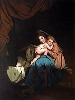 Lady Wilmot and Her Child, 1788, wright
