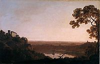Lake Nemi, c.1792, wright