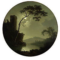 Lake with Castle on a Hill, 1787, wright