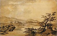 Landscape Study Development from a Blot, c.1770, wright