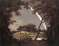 Landscape with a Rainbow, 1794, wright