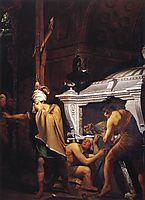 Miravan Breaking Open the Tomb of his Ancestors, 1772, wright