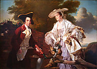 Peter Perez Burdett and his First Wife Hannah, 1765, wright