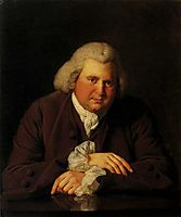 Portrait of Dr Erasmus Darwin (1731-1802) scientist, inventor and poet, grandfather of Charles Darwin, 1770, wright
