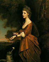 Portrait of a Girl in a Tawny Colored Dress, c.1780, wright