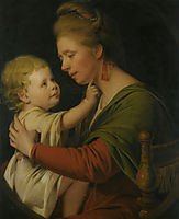 Portrait of Jane Darwin and her son William Brown Darwin, 1776, wright