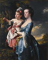 Portrait of Sarah Carver and her daughter Sarah, c.1769, wright