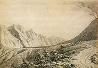 Study of the Terrain near Vesuvius, 1774, wright