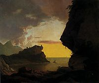 Sunset on the Coast near Naples, c.1790, wright