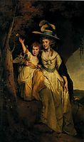 Susannah Hurt with Her Daughter Mary Anne, c.1790, wright