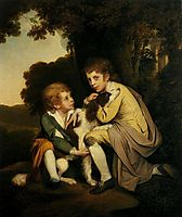 Thomas and Joseph Pickford as Children, 1779, wright