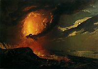Vesuvius in Eruption, with a View over the Islands in the Bay of Naples, c.1780, wright