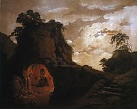 Virgil-s Tomb, with the Figure of Silius Italicus, 1779, wright