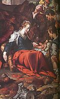 Adoration of the Shepherds (detail), wtewael