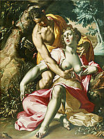 Cephalus and Procris (The Death of Procris), 1600, wtewael