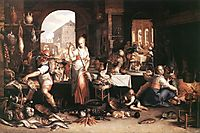 Kitchen Scene, 1605, wtewael