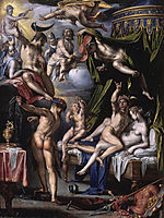 Mars and Venus Surprised by Vulcan, 1601, wtewael