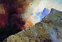 Eruption of volcano, 1898, yaroshenko