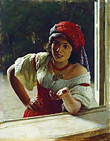 Gypsy Woman, 1886, yaroshenko