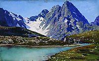 Lake Teberdinsky, Caucasus, 1894, yaroshenko