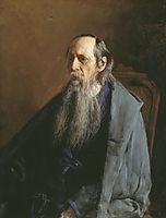 Portrait of Mikhail Yevgrafovich Saltykov-Shchedrin, 1886, yaroshenko