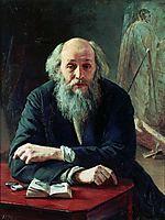 Portrait of Nikolaj Nikolajewitsch Ge, 1890, yaroshenko