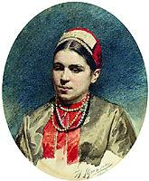 Portrait of P.Strepetova, 1886, yaroshenko