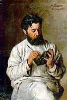 Portrait of the sculptor L.V. Posen, 1885, yaroshenko