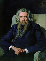 Portrait of Vladimir Solovyov, 1892, yaroshenko