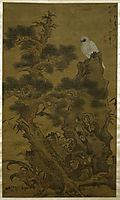 Pine Tree, White Hawk, and Rock, 1664, yinglan