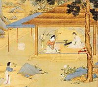 Konghou Player in a Pavillion, yingqiu