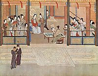 Spring morning in the Han Palace (View I, detail), 1530, yingqiu