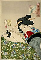 Looking warm - The Appearance of an Urban Widow of the Kansei era, yoshitoshi
