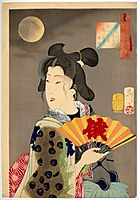 Looking suitable - The Appearance of a Brothel Geisha of the Koka Era, yoshitoshi