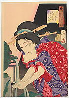 Looking chilly - The Appearance of a concubine of the Bunka Era, yoshitoshi