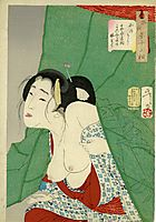 Looking itchy - The Appearance of a Kept Woman of the Kaei Era, yoshitoshi