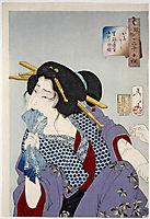 Lady Getting Tattooed , yoshitoshi