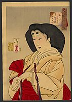 Looking refined - a court lady of the Kyowa era, 1888, yoshitoshi