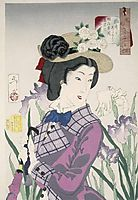 A married woman in the Meiji Period, yoshitoshi