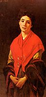 Lady in Red, 1873, zandomeneghi