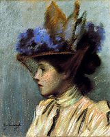 Lady with a hat, 1895, zandomeneghi