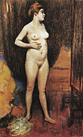 Naked woman in the mirror, 1890, zandomeneghi