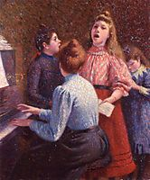 The Singing Lesson, c.1890, zandomeneghi