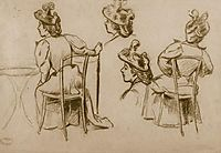 Study of figures, 1895, zandomeneghi