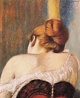 Woman in corset, c.1900, zandomeneghi