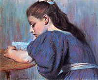 Young Girl Reading, zandomeneghi