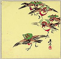 Birds in Festival, 1900, zeshin